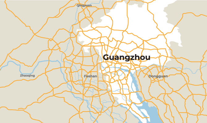 Map of Guangzhou